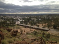 Alice Springs with dry Todd River