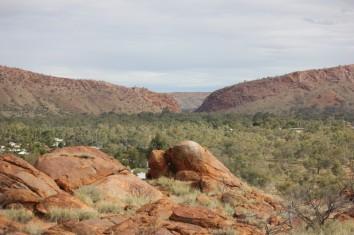 Heavitree Gap in Alice Springs